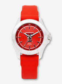 Jack Mason Texas Tech Sport Women's Red Silicone Watch