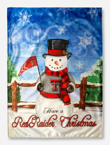 Texas Tech Snowman House Flag