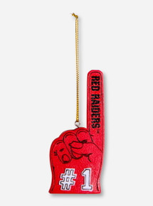 #1 Foam Finger Red Ornament