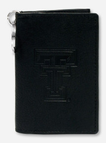 Texas Tech Embossed Double T on Leather ID Holder