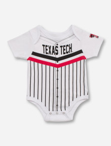 Arena Texas Tech Baseball Jersey Style INFANT White Onesie