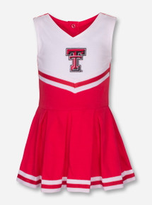Creative Knitwear Texas Tech Double T on INFANT Red & White Cheerleading Outfit