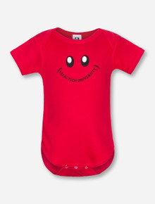 Texas Tech Smiley Face on INFANT Red Onesie