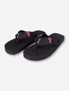 Texas Tech Basic Double T Black Flip Flops