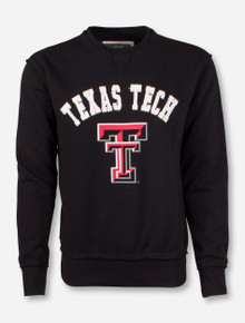 Arena Texas Tech Patch over Double T on Black Sweatshirt