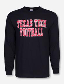 Texas Tech Football Stack on Black Long Sleeve