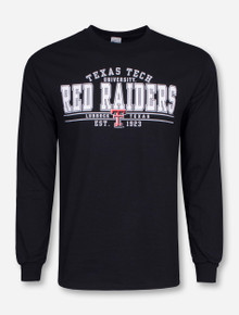 Red Raiders on Black Long Sleeve - Texas Tech