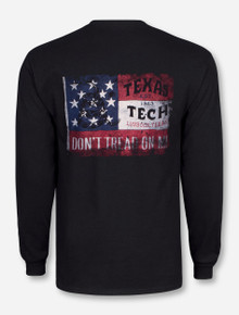 Don't Tread on Me on Black Long Sleeve - Texas Tech