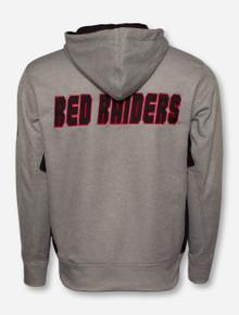 Arena Texas Tech Double T on Grey Full Zip Hooded Sweatshirt