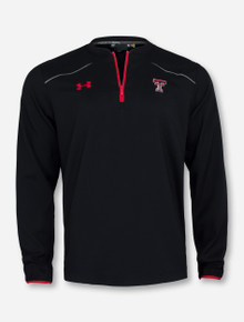 "Under Armour Texas Tech ""Dugout"" Long Sleeve Quarter Zip"