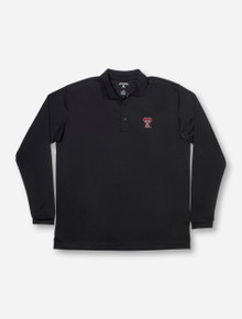"Antigua Texas Tech ""Exceed"" Black Long Sleeve Polo"