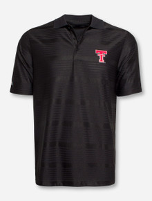 "Antigua Texas Tech ""Illusion"" Throwback Black Polo"