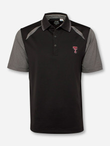 "Cutter & Buck Texas Tech ""Opulent"" Black & Grey Polo"