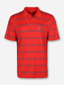 """Cutter & Buck Texas Tech """"Tackle"""" Honeycomb Patterned Polo"""