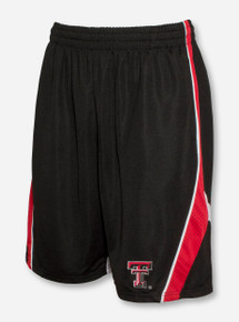 Arena Texas Tech Double T on Black Mesh Shorts