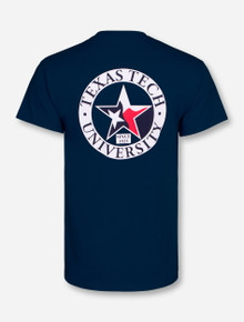 Flag in Star Navy T-Shirt - Texas Tech