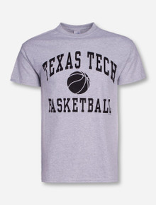 Texas Tech Basketball Heather Grey T-Shirt
