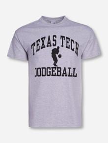 Texas Tech Dodgeball Heather Grey T-Shirt