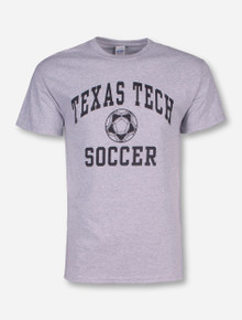 Texas Tech Soccer Heather Grey T-Shirt