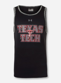 "Under Armour Texas Tech ""Limitless Stack"" Black Tank Top"