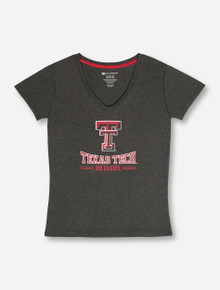 Arena Texas Tech Arch on Heather Charcoal T-Shirt