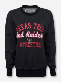 Arena Texas Tech Red Raiders Script Patch on Heather Charcoal Sweatshirt