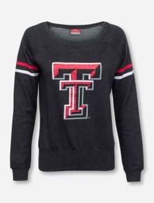 Arena Texas Tech Rhinestone Double T on Scoop Neck Sweatshirt