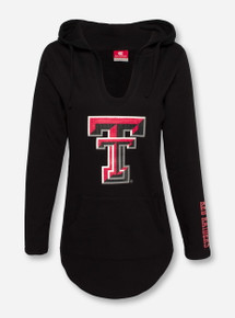 Arena Texas Tech Sequin Double T on Black Hoodie