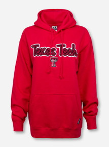CI Sport Texas Tech Script Patch on Red Hoodie