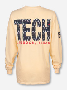 Lubbock, TX TECH in Anchors on Yellow Long Sleeve