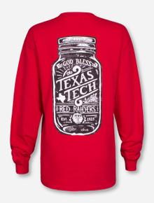 Mason Jar Texas Tech Long Sleeve