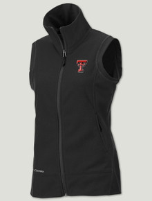 "Texas Tech Columbia ""Give & Go"" Women's Black Fleece Vest"