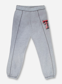 U-Trau Texas Tech Double T on Women's Heather Grey Sweat Pants