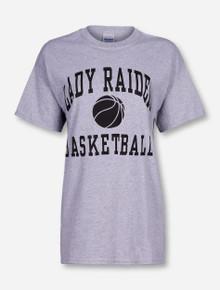 Texas Tech Lady Red Raiders Basketball Heather Grey T-Shirt
