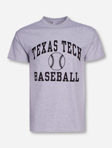Texas Tech Baseball Heather Grey T-Shirt