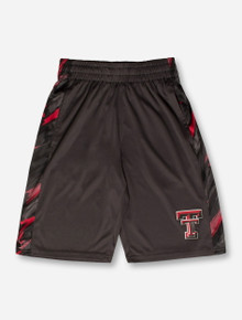 Arena Texas Tech Double T on YOUTH Charcoal Basketball Shorts
