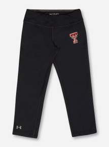 Under Armour Texas Tech Double T on YOUTH Black Capri Leggings