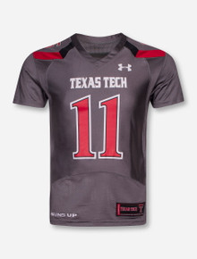 "Under Armour Texas Tech ""On the Field"" #11 YOUTH Grey Jersey"