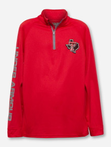Under Armour Texas Tech Lone Star Pride on YOUTH Red Quarter Zip Pullover