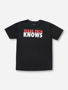 Arena Texas Tech Knows on YOUTH Black T-Shirt
