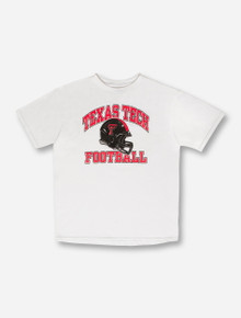 Texas Tech Football Arch on YOUTH White T-Shirt