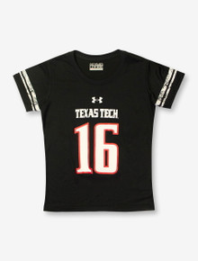 Under Armour Texas Tech #16 Sherzie-Style YOUTH Black T-Shirt