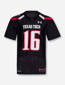 Under Armour Texas Tech #16 with Nameplate Jersey