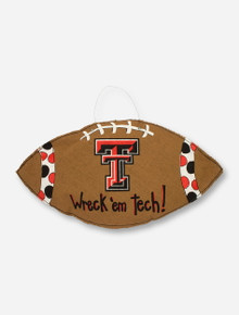 Glory Haus Texas Tech Football with Double T Burlap Wall Hanging