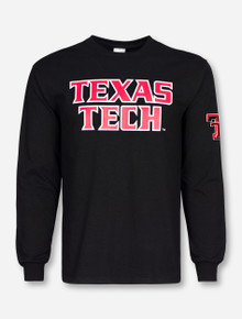Texas Tech Football Font Stacked Long Sleeve