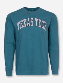 Classic Texas Tech Arch in Heather Grey Long Sleeve