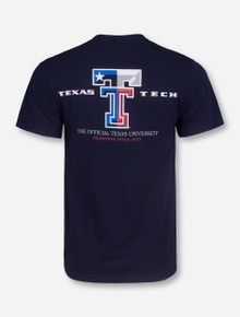 Texas Flag Double T T-Shirt - Texas Tech