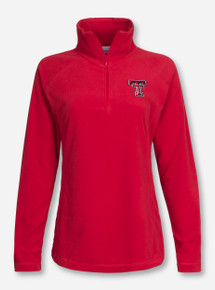 "Texas Tech Columbia ""Glacial"" Women's Fleece Quarter Zip Pullover"
