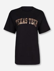 Classic Texas Tech Arch in Champagne Glitter T-Shirt