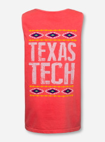 California Southwest Texas Tech Neon Orange Tank Top